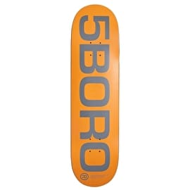 5Boro EXT Logo Skateboard Deck - Orange 8.5