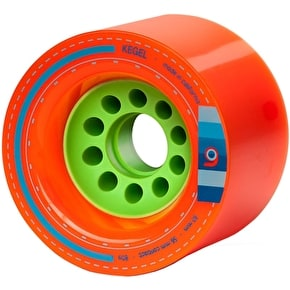 Orangatang Kegel 80mm Longboard Wheels - Orange (Pack of 4)