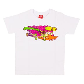 Santa Cruz Slasher Colour Kids T-Shirt - White