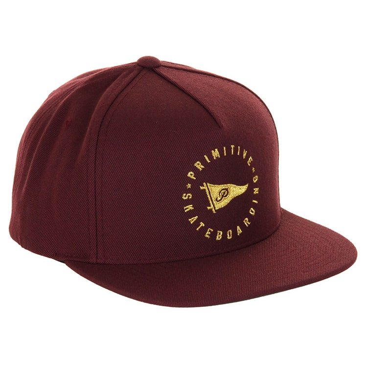 Primitive Circle Pennant Cap - Burgundy