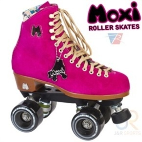 B-Stock Moxi Fuchsia Quad Roller Skates - UK 4 (Drilled holes)