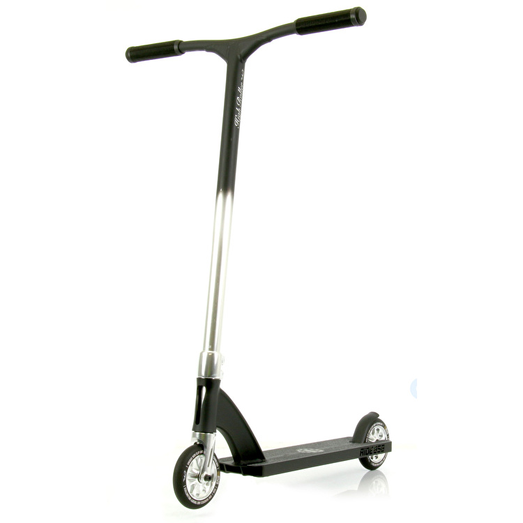 Ride 858 High Roller Complete Scooter - Silver/Matte Black