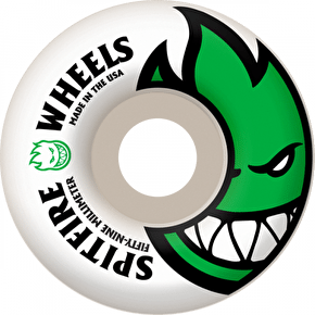 Spitfire White Skateboard Wheels Bighead - Green 59mm