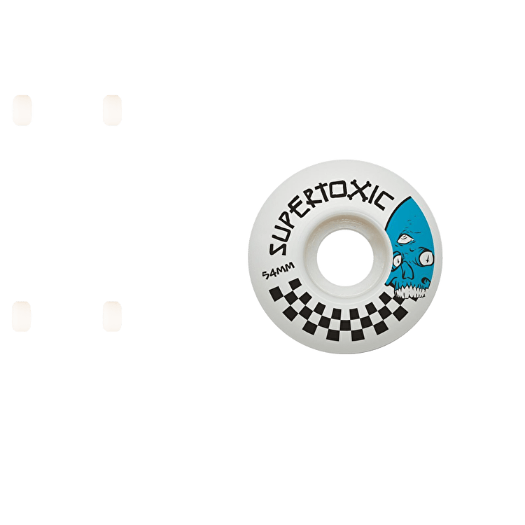 Supertoxic Loco Skull Skateboard Wheels - Blue 54mm