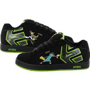 Etnies Kids Fader Disney Skate Shoes - Black/Green