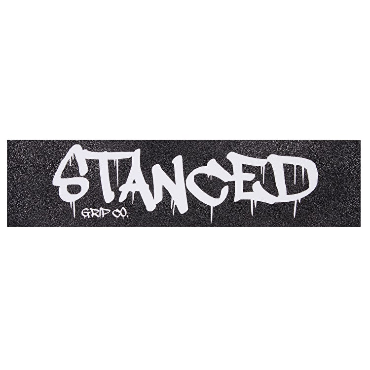 "Stanced Logo Scooter Grip Tape - White 22"" x 5"""