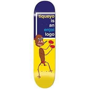 Enjoi Tiqueyo R7 Skateboard Deck - Blue/Yellow 8.25