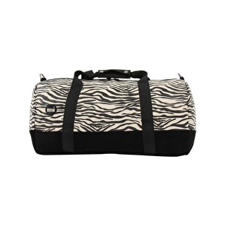 Mi-Pac Canvas Zebra Duffle Bag - Black/White