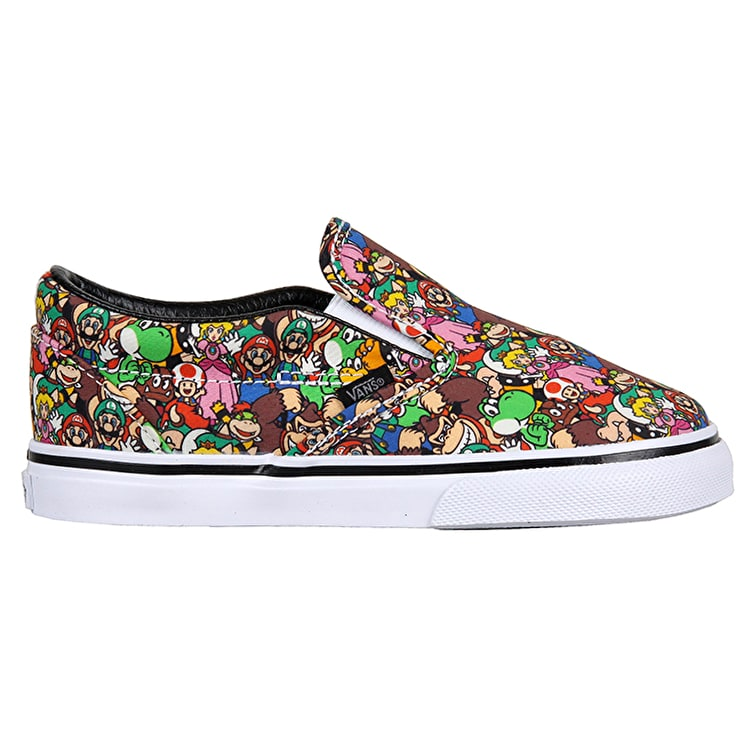 Vans Classic Slip-On Toddler Shoes - (Nintendo) Super Mario Bros/Multi