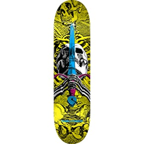 Powell Peralta CMYK Skull & Sword Skateboard Deck - Yellow 7.5