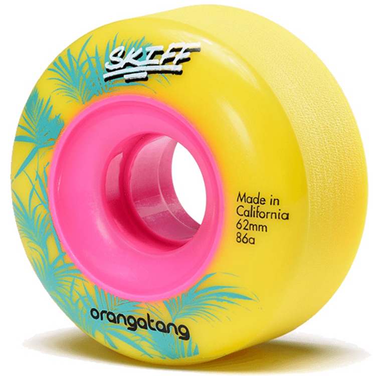 Orangatang Skiff Slasher 62mm 86a Longboard Wheels - Yellow
