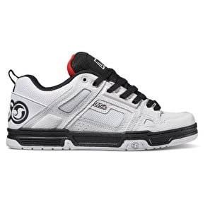 DVS Comanche Skate Shoes - White/Black/Red