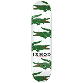 Real Ishod Prep Full Shape Skateboard Deck - White/Green 8.25