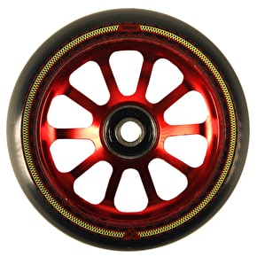 AO Mandala 10 Hole 100mm Scooter Wheel - Red