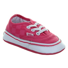 Vans Authentic Crib Shoes - (Washed Checkerboard) Pink/White