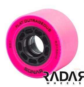 Radar Flat Outrageous 62mm Roller Derby Wheels-88A