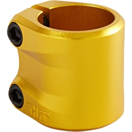 Tilt Sculpted Double Scooter Collar Clamp - Gold