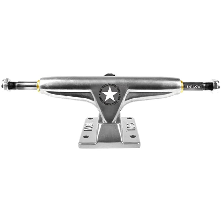 "Iron Low 5.0"" Skateboard Trucks - Silver"