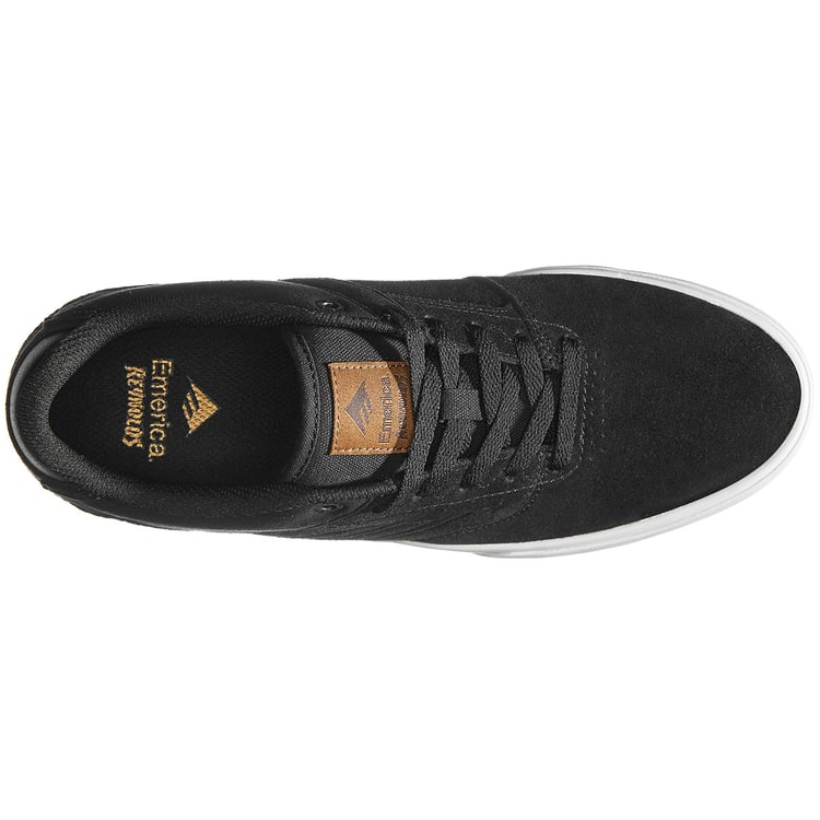 Emerica The Reynolds Low Vulc Skate Shoes - Black/Brown