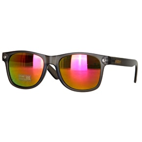 Glassy Sunhaters Leonard Sunglasses - Dark Grey/Purple Mirror