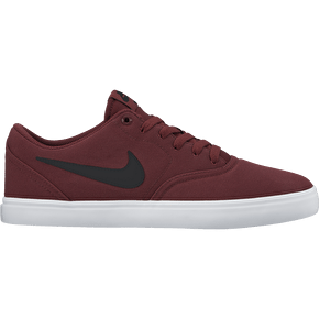Nike SB Check Solar Canvas Skate Shoes - Dark Team Red/Black