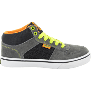 DVS Clip Kids Skate Shoes - Grey/Black Suede