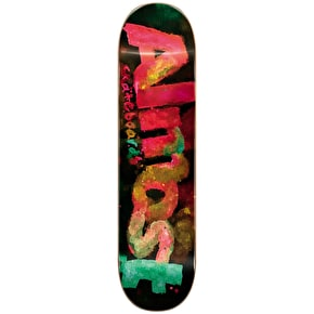 Almost Skateboard Deck - Blotchy Logo HYB Black 8