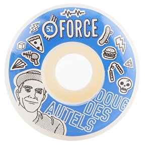 Force Bored Des Autels Skateboard Wheels - 51mm