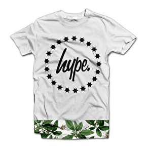 Hype Leaves Bottom T-Shirt - White