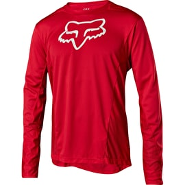 Fox Demo Camo Burn Long Sleeve Jersey - Red