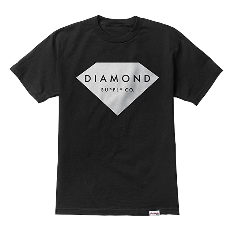 Diamond Solid Stone T-Shirt - Black