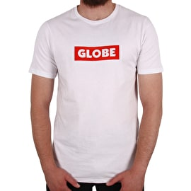 Globe Box T Shirt - White