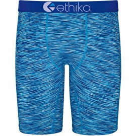 Ethika Classics Heather Boxers - Blue