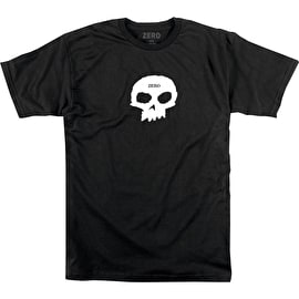 Zero Single Skull T Shirt - Black/White