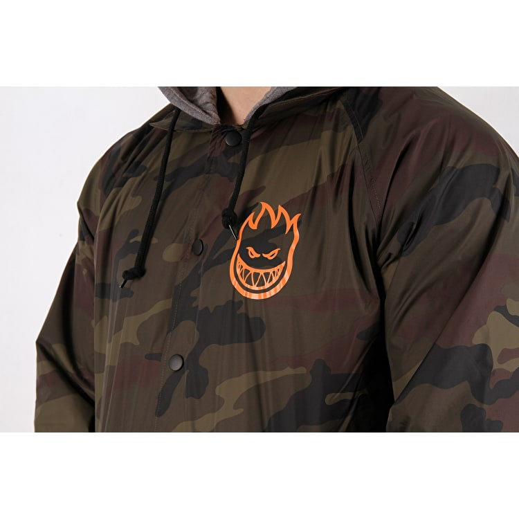Spitfire Covert Hooded Coaches Jacket - Camo/Gunmetal Black