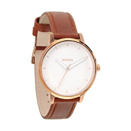 Nixon Women's Kensington Leather Watch - Rose Gold
