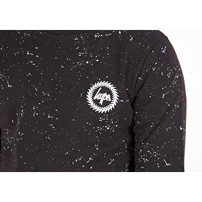 Hype Speckle Crewneck - Black/White