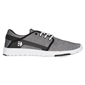 Etnies Scout Skate Shoes - Black/Black/White