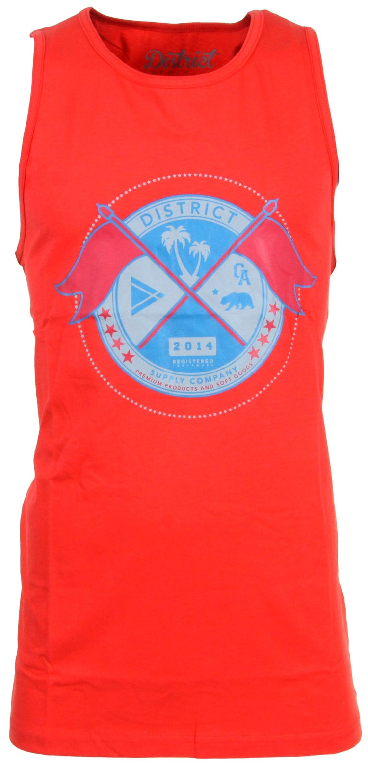 Image of District Supply Co. Seal Tank Top - Red
