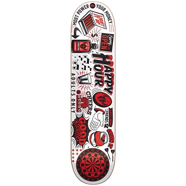 Darkstar Onward Skateboard Deck - White 8.125""