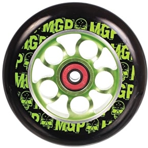 MGP Aero Scooter Wheel - Green/Black 110mm