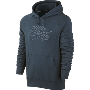 Nike SB Icon Reflective Hoodie - Squadron Blue/Reflective Silver