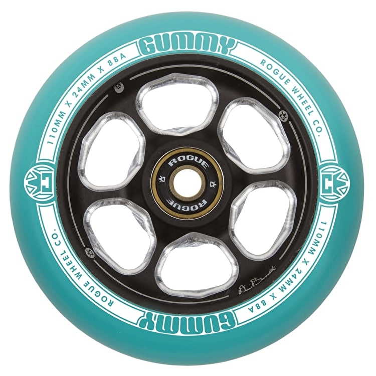 Rogue 110mm DB Gummy Scooter Wheel - Green/Black
