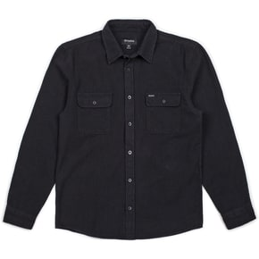 Brixton Bowery Longsleeve Flannel Shirt - Washed Black