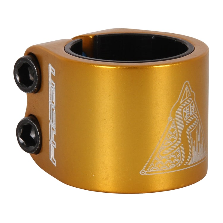 Fasen 2 Bolt Double Scooter Collar Clamp - Gold