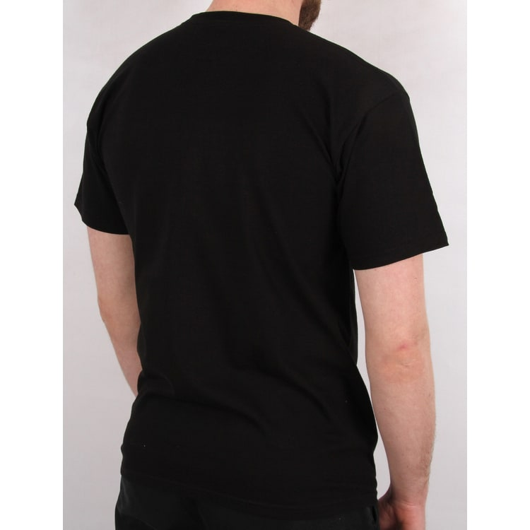 Huf Cooper Flock T shirt - Black