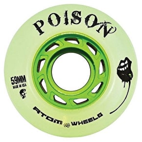 Atom Quad Derby Poison Slim 59mm Wheels 84A (4pk) - Natural Green
