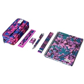 Spiral Summer Blossom Stationary Set