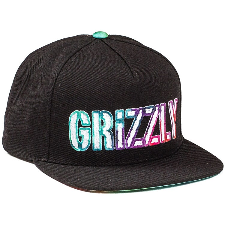 Grizzly Eclipse Tie-Dye Snapback Cap - navy