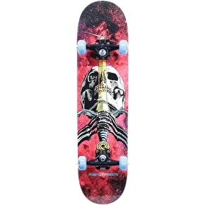 Powell Peralta Skateboard - Cosmic Skull & Sword Red 7.88